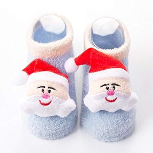 Primary image for 2 pair Baby Christmas Cartoon Cotton Socks Infant Toddler Silicone Anti-slip Flo