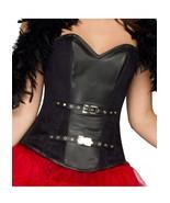 Black Leather Costume Halloween Costume Burlesque Bustier Overbust Corse... - $69.29+