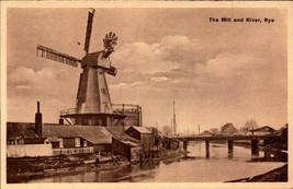 VINTAGE ENGLISH POSTCARD-THE MILL AND RIVER, RYE, SUSSEX, UNITED KINGDOM... - $4.90