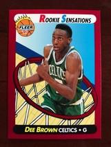 1991-92 Fleer - Dee Brown - Rookie Sensations #10 - $0.99