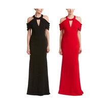 Badgley Mischka Strappy Cold Shoulder Gown/Dress RED or BLACK