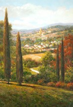 The Perfect Summer Day by Steve Harvey European Tuscan Landscape Canvas Giclee - $345.51