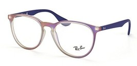 Authentic Ray Ban Eyeglasses RB7046 5486  Rubberized Purple Frames 51MM - $49.49