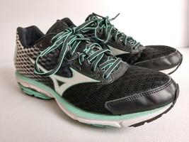Mizuno Wave Rider 18 Running Cross Training Shoes Black/Turquoise Women'... - $28.84