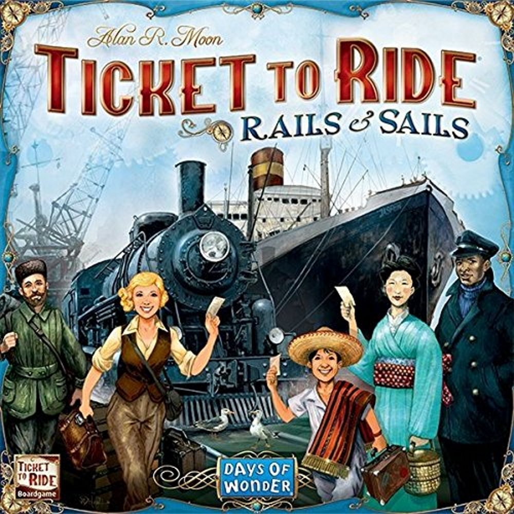 Boardgame: Days of Wonder - Ticket To Ride Rails and Sails