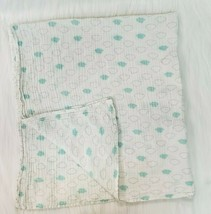 Aden + Anais Clouds White Green Cotton Muslin Security Blanket Baby B77 - $12.99