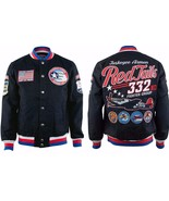 Tuskegee Airmen Jacket 332 REDTAILS US AIR FORCE Black Twill Jacket M-5XL - $100.00