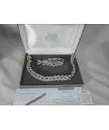 Nolan Miller Vintage Crystal Rope Necklace and Bracelet Set Crystals Sil... - $105.18