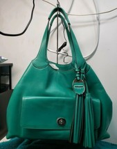 COACH LEGACY LEATHER AMERICAN ICON XL TOTE+WRISTLET 19997 EMERALD GORGEOUS  - $395.01