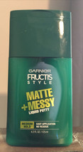 Garnier Fructis Style Matte + Messy Liquid Putty Medium Hold 4.2 oz - $4.75
