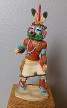 """Vintage Castagna KachIna Hopi Indian Figurine 7"""" Alabaster Italy 1988 - $29.00"""
