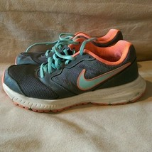 Nike Downshifter 6 Grey & Coral & Light Blue - 684765-018 - Size 8 - $19.99