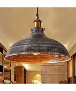 "NIUYAO 14"" Wide Rustic Industrail Big Barn Pendant Light Lamp Dome Shade... - $58.99"