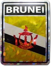 ALBATROS Brunei Country Flag Reflective Decal Bumper Sticker for Home an... - $15.02