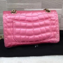 Authentic Chanel Classic 2.55 Reissue Mini Double Flap Bag Pink Silk GHW image 2