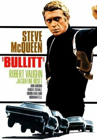 Bullitt movie poster color 24x36 inches