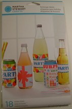 Martha Stewart Crafts Modern Festive 108 Beverage Labels Lot 6 Party Win... - $6.49
