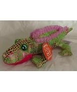 "Fiesta Toys Plush Pink & Green Sparkly Ruffles Alligator 11"" Long Stuffe... - $14.99"