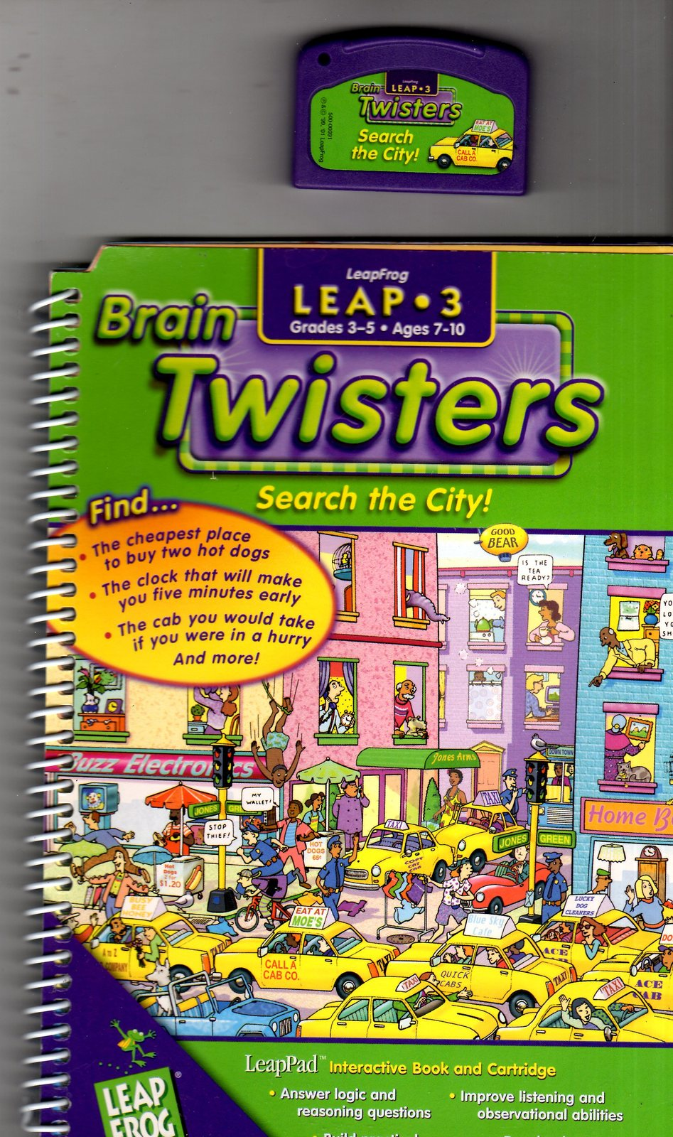"LeapFrog  -  Brain Twisters "" Search the City"" -  Leap 3"