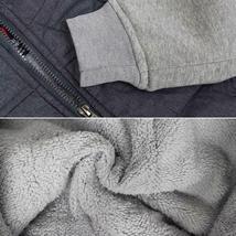Vertical Sport Men's Sherpa Fleece Lined Two Tone Zip Up Hoodie Jacket image 6