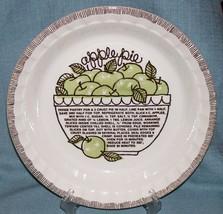 Vintage Royal China Jeannette-Deep Dish APPLE Pie Plate/ Baker w/ Recipe... - €12,00 EUR