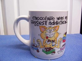 Message Mugs Coffee Cup Choc. was my biggest addiction - $11.30