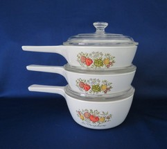 Corning Corelle, Spice of Life, P-82 & P-81 with Lids, c. 1972 - $22.00