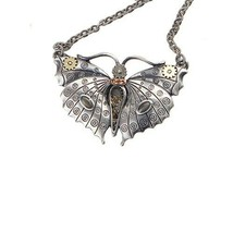 STEAMPUNK GEARWORK MECHANICAL BUTTEFLY NECKLACE ALLOY PENDANT FASHION JE... - $17.99
