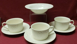 MIKASA China - ENGLISH COUNTRYSIDE WHITE (1) FRUIT BOWL + (3) CUPS & SAU... - $29.95