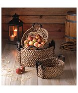25 Home Decor Nesting Baskets Rustic Woven 3 PC. Set Storage Stack Organ... - $36.73