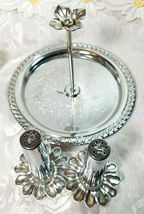 VINTAGE SALT AND PEPPER MAGNETIC TRAY WITH HANDLE METAL image 3