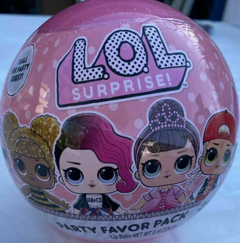 Primary image for NEW LOL Surprise Party Favor Pack, 1 Count Includes Sticker, Necklace, Lip Balm.