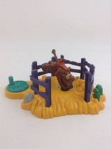Geotrax Rope 'n Ride Rodeo Farm Accessory  Ranch Bucking Bronco Bull Pie... - $18.76