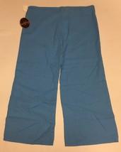 Ashley Junior Casual Capri Linen Pants Sz L Ocean Blue image 7