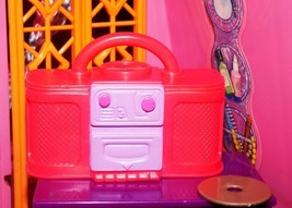 Barbie red purple stereo boombox radio fits Fisher Price loving family d... - $5.99