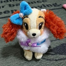 Disney Store Japan Lady and the Tramp Plush toy badge strap - $38.61