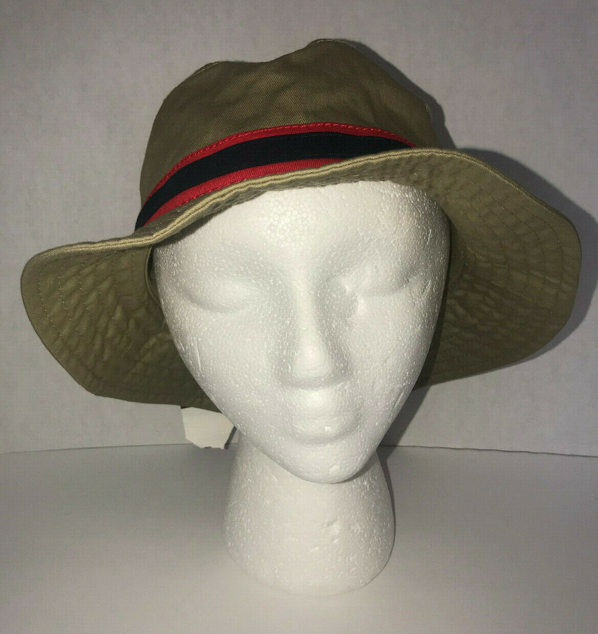 Primary image for Fishing Hat Tan Red and Black New OSFA