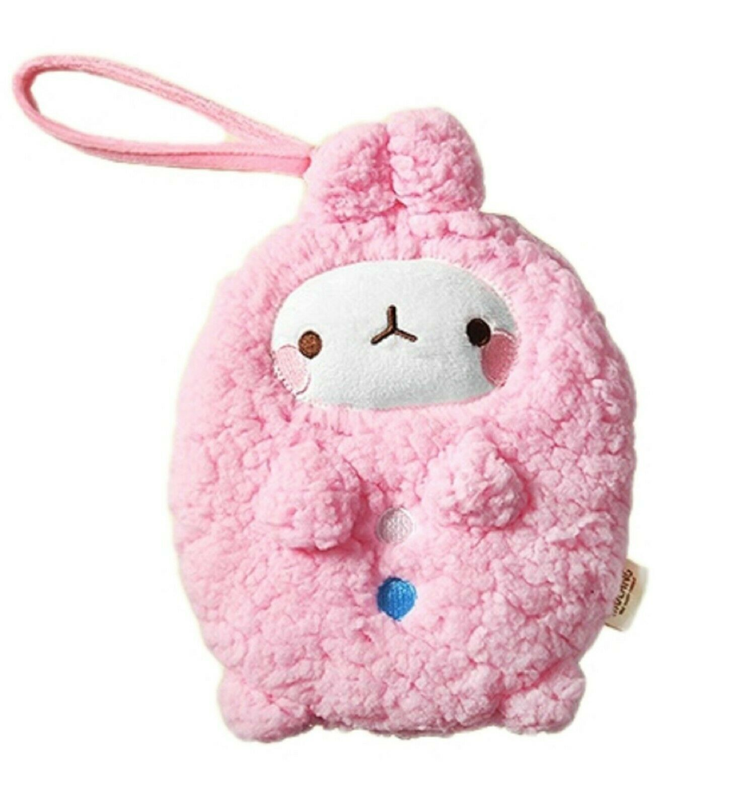 Molang Cosmetic Makeup Pen Strap Pouch Bag Case (Pink)