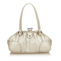 Vintage Celine White Ivory Others Leather Shoulder Bag France - $307.62