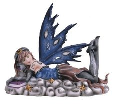 "6"" Inch Sleeping Heavenly Fairy Statue Figurine Figure Fantasy Magical - $33.00"