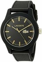 Lacoste Men's 2010818 Lacoste.12.12 Analog Display Japanese Quartz Black Watch - $135.58