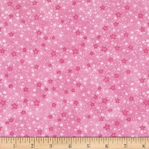 A.E. Nathan Flannel Stars Pink Fabric by The Yard, Pink - €7,54 EUR