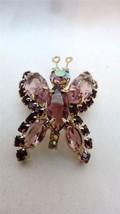 Vintage Juliana Goldtone Lavender Amethyst Rhinestone Butterfly Brooch Pin - $99.00