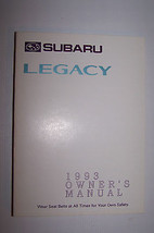 1993 subaru legacy owners manual new original parts service original new - $20.99
