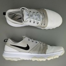 Nike FI Impact 3 Spikeless Golf Shoes Mens Size 10 Cleats White Black Grey - $56.09