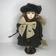 """Boyds Collection """"Yesterdays Child"""" Porcelain Doll Anne The Artist 16"""" W Stand - $19.75"""