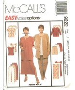 McCall's 9222 Misses'/Petite-able Unlined Jacket Dress Separates 26W-30W... - $10.47