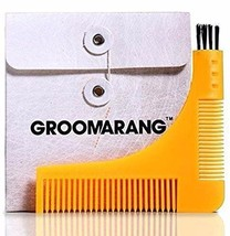 Beard Styling Comb Groomarang Shaping Template Tool And Moustache Face Neck - $9.89