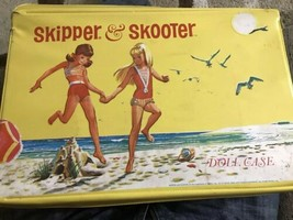 Skipper & Scooter Doll Sandcastle Case- Mustard Color Mattel 1965 C70 - $38.69