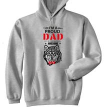 Alaskan Malamute - Im A Proud Dad - New Cotton Grey Hoodie - $38.98